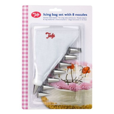 Tala 9 Piece Piping Icing Bag & Nozzles Set